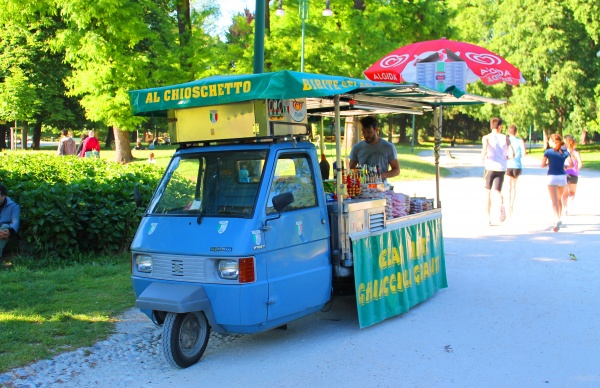 Minimarket on wheels in Milano
